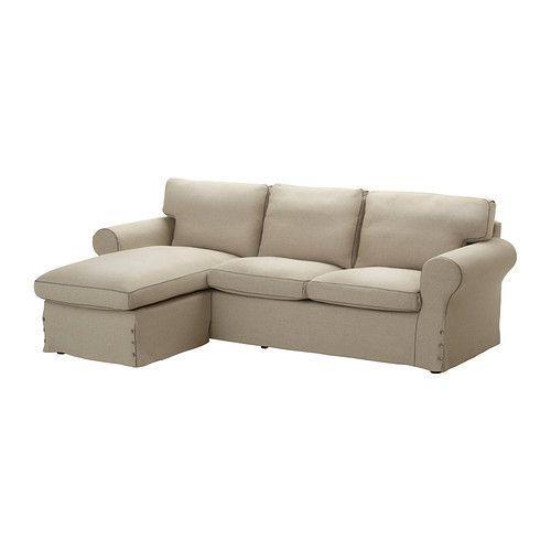 IKEA・イケア ソファ ソファ EKTORP 2人掛けソファ&寝椅子, リーサーネ ナチュラル ベージュ (499.085.52)