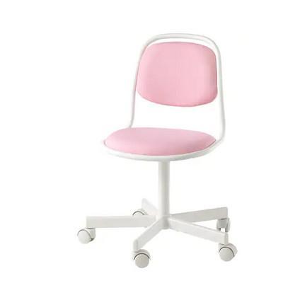 学習椅子 新着セール 実物 IKEA イケア ORFJALL オルフィエル ピンク 504.417.70 ヴィースレ ホワイト 子ども用デスクチェア