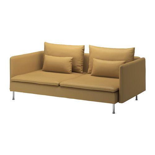 IKEA・イケア ソファ SODERHAMN 3人掛けソファ, サムスタ ダークイエロー, 50 cm (590.235.80)