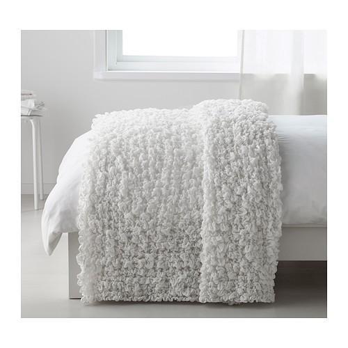 ベッドカバー ひざ掛け ベッドスプレッド 人気ブランド多数対象 品質検査済 毛布 IKEA 60173856 オフェーリア イケア OFELIA ホワイト