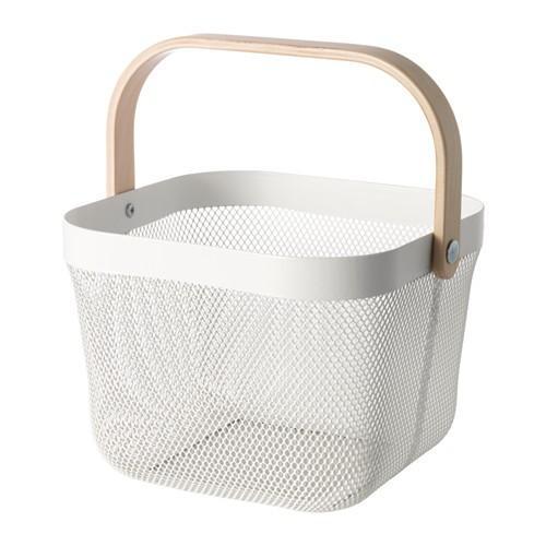 期間限定特価品 バスケット 野菜ストッカー IKEA イケア リーサトルプ RISATORP 604.805.44 ホワイト 大幅にプライスダウン
