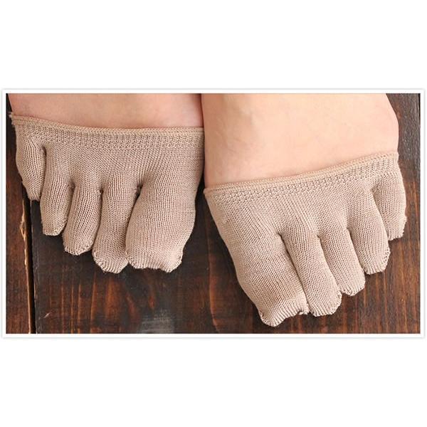 絹 冷え取り 保湿 靴下 5本指  五本指 パンプスイン ムレ対策 日本製 国産 / cocoonfit シルクフィンガーソックス パンスト用 メール便可 mochihada 05