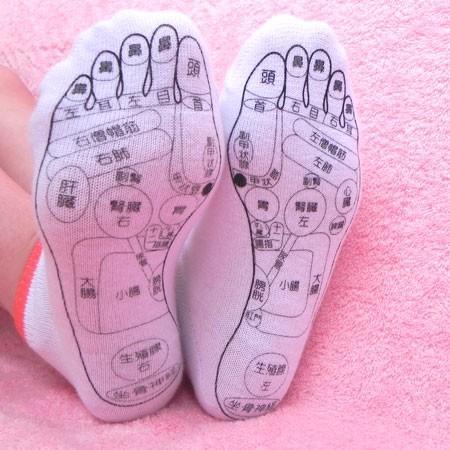 足つぼ(反射区)プリント靴下「健康足すと」|mochocoi|02