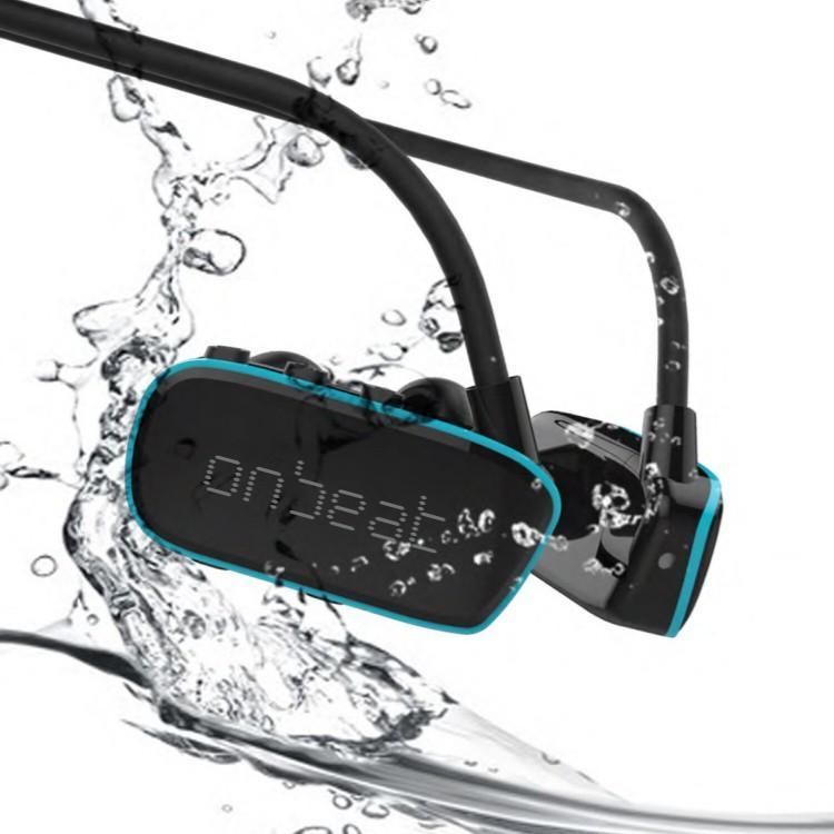 ワイヤレスイヤホン 完全防水 マーケット MP3プレーヤー アウトドア IPX8 耳栓 スイミング 飛行機 オンビート 海 入浴 旅行 川 ONBEAT 大幅値下げランキング