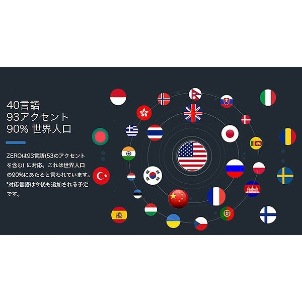 翻訳機 Time kettle タイムケトル スマート翻訳機 充電不要 93言語対応 リアルタイム 超小型 ゼロ zero|mod|13