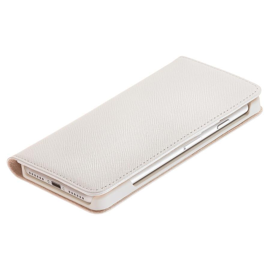 iPhone 7 ケース 本革 手帳型ケース ポーラスター / ホワイト modaMania モーダマニア 高級イタリアンレザー サフィアーノ バイカラー|modamania|04
