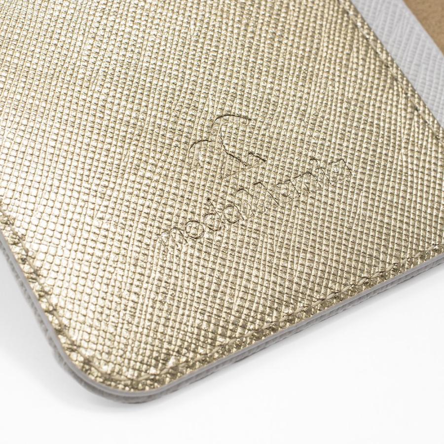 iPhone 7 ケース 本革 手帳型ケース ポーラスター / ホワイト modaMania モーダマニア 高級イタリアンレザー サフィアーノ バイカラー|modamania|06