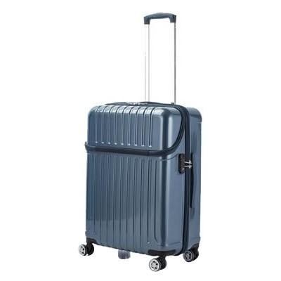 【送料無料】 協和 ACTUS(アクタス) スーツケース トップオープン トップス Mサイズ ACT-004 ブルーカーボン・74-20322