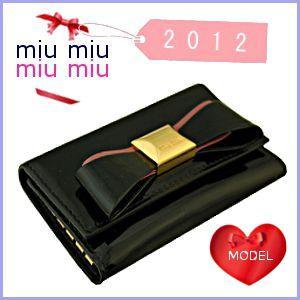 【国内正規品】 ミュウミュウ miumiu MIUMIU キーケース リボン 新作 5M0222, オアシスプラス 8038f785
