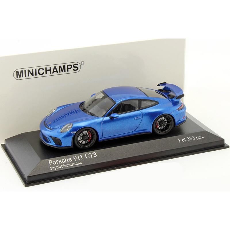 1/43 ミニチャンプス ミニカー ポルシェ911 Porsche 911 (991) GT3 MK II 2017 青 METALLIC