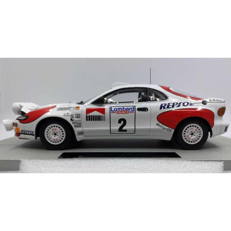 TOP MARQUES COLLECTIBLES TOYOTA CELICA GT4 TO WINNER RAC RALLY 1992 1//18