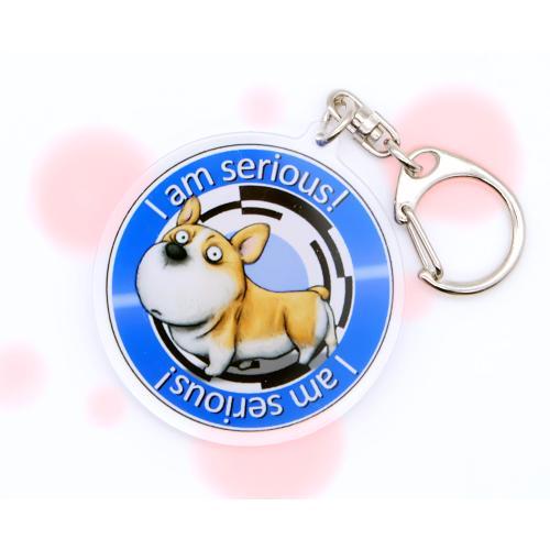犬のコーギーさんのキーリング おしゃれ キャラクター アニマル キーホルダー|moevi