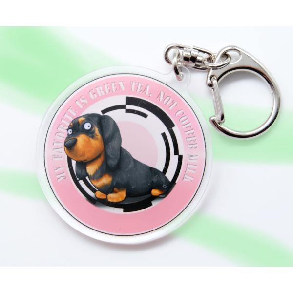 犬のミニチュアダックスフンドさんのキーリング おしゃれ キャラクター アニマル キーホルダー 001|moevi