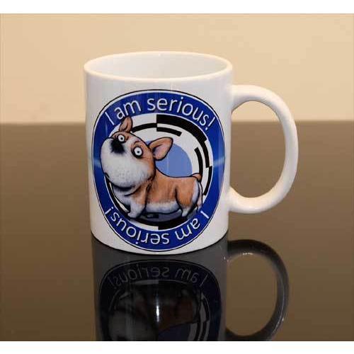 犬のかわいいコーギーさんのイラスト01のマグカップ コーヒーカップ ティーカップ|moevi