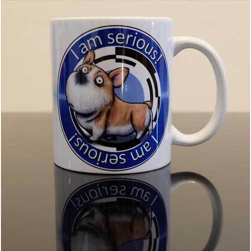 犬のかわいいコーギーさんのイラスト01のマグカップ コーヒーカップ ティーカップ|moevi|02