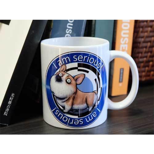 犬のかわいいコーギーさんのイラスト01のマグカップ コーヒーカップ ティーカップ|moevi|06