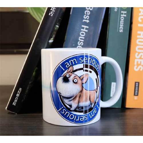 犬のかわいいコーギーさんのイラスト01のマグカップ コーヒーカップ ティーカップ|moevi|07
