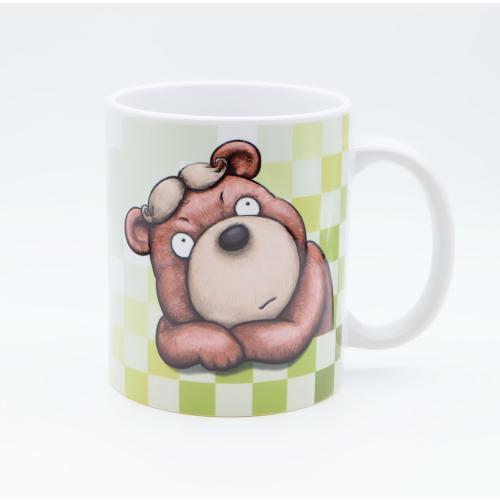 おしゃれなカツラのくまさんのイラスト03のマグカップ コーヒーカップ ティーカップ|moevi