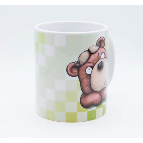 おしゃれなカツラのくまさんのイラスト03のマグカップ コーヒーカップ ティーカップ|moevi|02