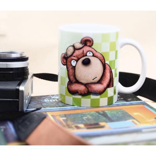 おしゃれなカツラのくまさんのイラスト03のマグカップ コーヒーカップ ティーカップ|moevi|05