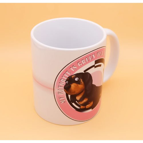 犬のかわいいミニチュアダックスフンドさんのイラスト01のマグカップ コーヒーカップ ティーカップ moevi 04