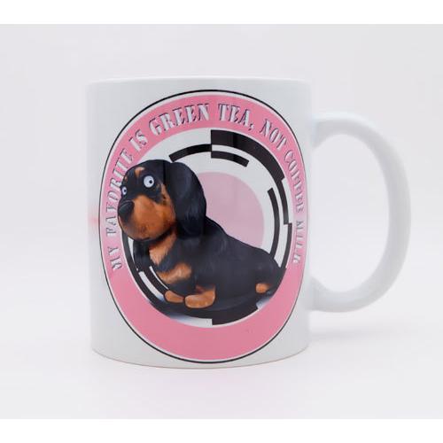 犬のかわいいミニチュアダックスフンドさんのイラスト01のマグカップ コーヒーカップ ティーカップ moevi 06