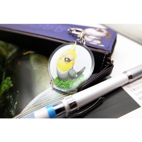 鳥のオカメインコさんのキーリング おしゃれ キャラクター アニマル キーホルダー 001 moevi 05