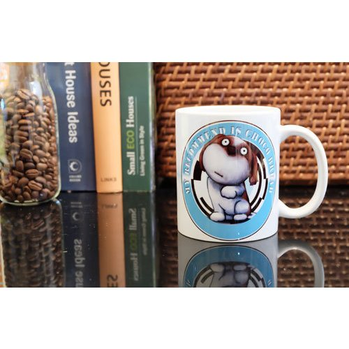 犬のおしゃれなシーズーさんのイラスト01のマグカップ コーヒーカップ ティーカップ moevi 05