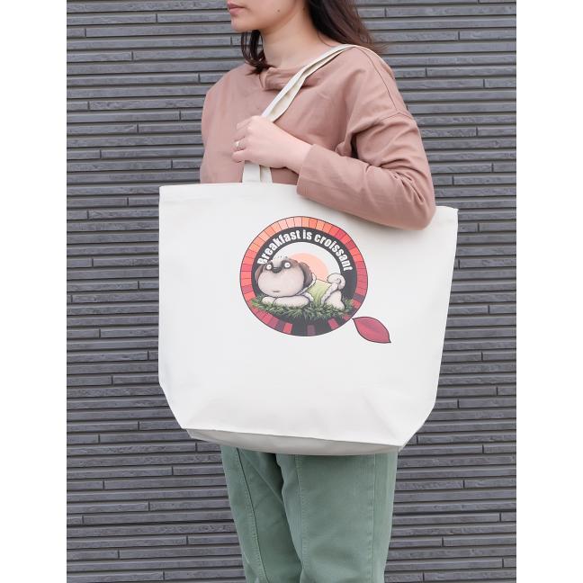 犬のシーズーさんのイラスト02のバッグ トートバッグ レディース ショルダーバッグ 鞄 肩掛け トート ネコポス可 大きめサイズ|moevi|04