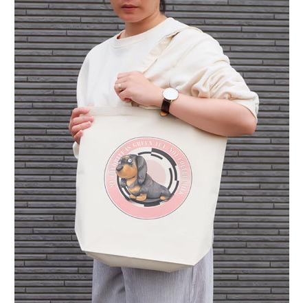 犬のミニチュアダックスフンドさんのイラスト01のバッグ トートバッグ レディース ショルダーバッグ 鞄 肩掛け トート ネコポス可 moevi 04