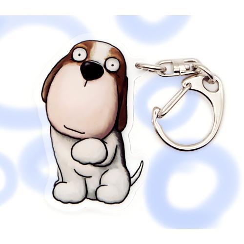 犬のビーグルさんのキーリング おしゃれ キャラクター アニマル キーホルダー 01 moevi