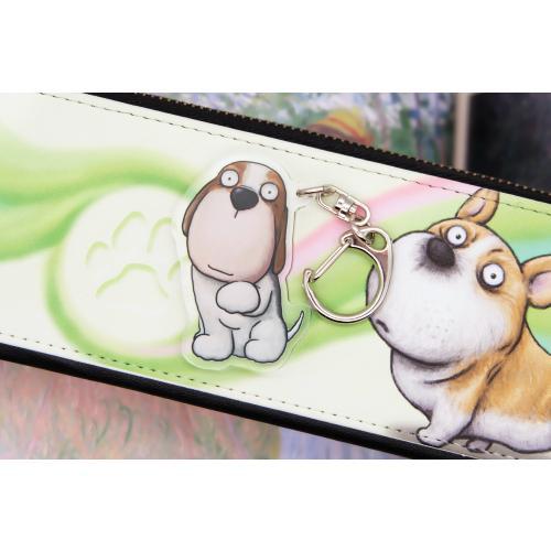 犬のビーグルさんのキーリング おしゃれ キャラクター アニマル キーホルダー 01 moevi 03
