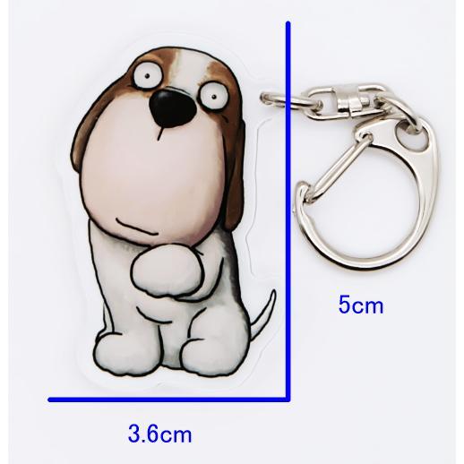 犬のビーグルさんのキーリング おしゃれ キャラクター アニマル キーホルダー 01 moevi 05