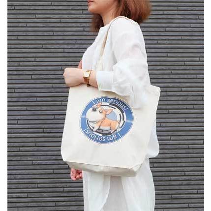 犬のコーギーさんのイラスト01のバッグ トートバッグ レディース ショルダーバッグ 鞄 肩掛け トート ネコポス可|moevi|03
