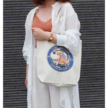 犬のコーギーさんのイラスト01のバッグ トートバッグ レディース ショルダーバッグ 鞄 肩掛け トート ネコポス可|moevi|04