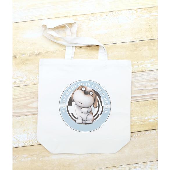 犬のシーズーさんのイラスト01のバッグ トートバッグ レディース ショルダーバッグ 鞄 肩掛け トート ネコポス可|moevi