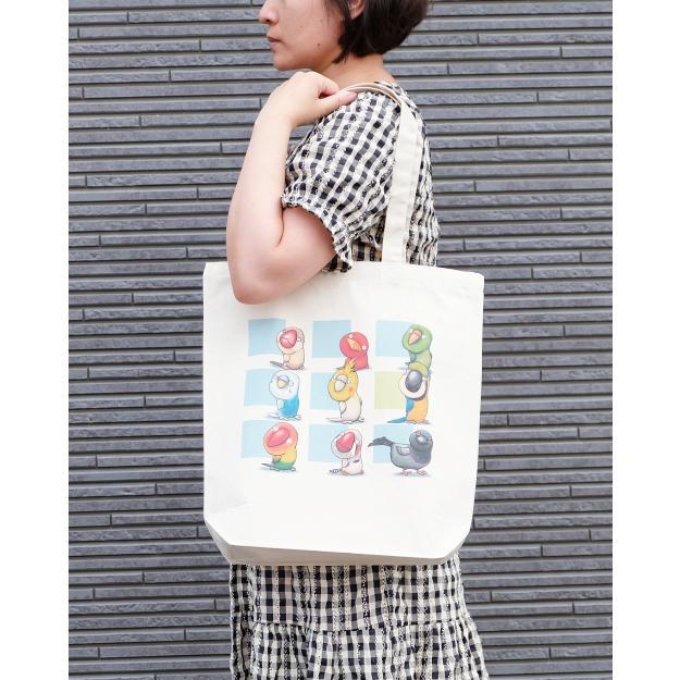 鳥さんのイラスト05のバッグ トートバッグ レディース ショルダーバッグ 鞄 肩掛け トート ネコポス可 moevi 03