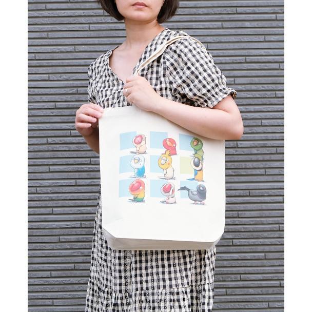 鳥さんのイラスト05のバッグ トートバッグ レディース ショルダーバッグ 鞄 肩掛け トート ネコポス可 moevi 04