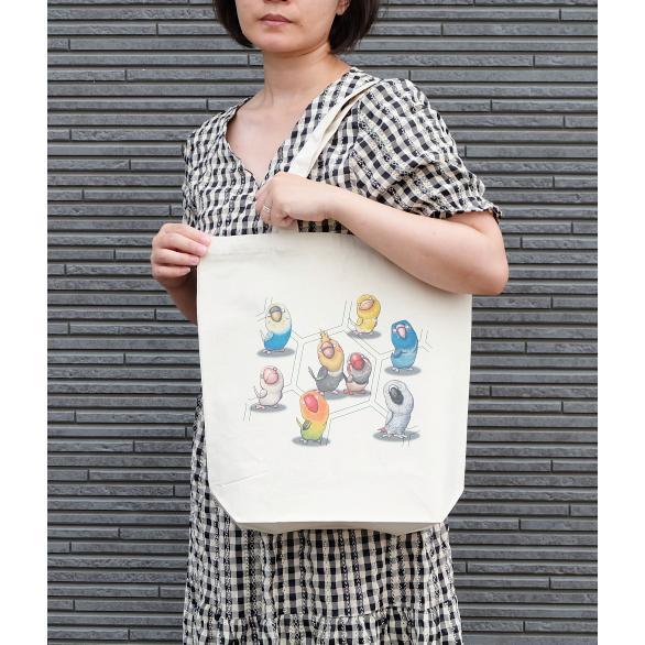 鳥さんのイラスト06のバッグ トートバッグ レディース ショルダーバッグ 鞄 肩掛け トート ネコポス可 moevi 04