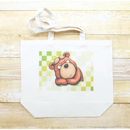 カツラのクマさんのイラスト03のバッグ トートバッグ レディース ショルダーバッグ 鞄 肩掛け トート ネコポス可 大きめサイズ|moevi