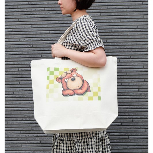 カツラのクマさんのイラスト03のバッグ トートバッグ レディース ショルダーバッグ 鞄 肩掛け トート ネコポス可 大きめサイズ|moevi|03