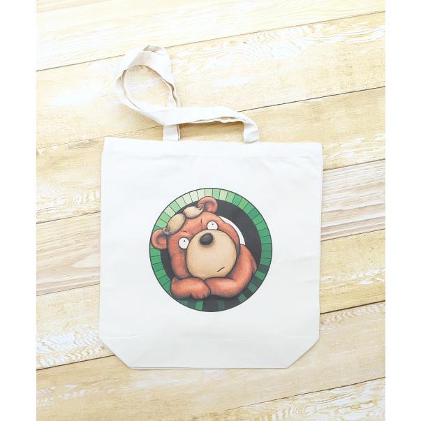 カツラのクマさんのイラスト03のバッグ トートバッグ レディース ショルダーバッグ 鞄 肩掛け トート ネコポス可|moevi