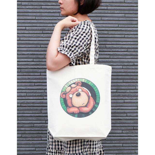 カツラのクマさんのイラスト03のバッグ トートバッグ レディース ショルダーバッグ 鞄 肩掛け トート ネコポス可|moevi|03