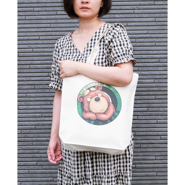 カツラのクマさんのイラスト03のバッグ トートバッグ レディース ショルダーバッグ 鞄 肩掛け トート ネコポス可|moevi|04