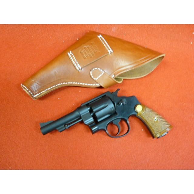 M1917・4インチ用革ホルスター・アリニン染めフラップ付き・インディジョーンズ仕様
