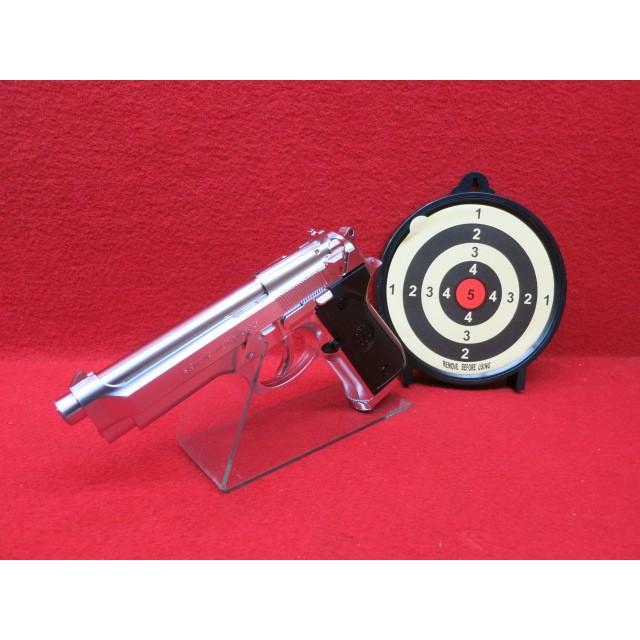 S2Sスライド固定ガスガン・M92Fステンレスシルバー