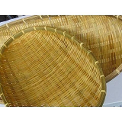 竹ざる楕円 メイルオーダー 大 小2枚セット大59cm 保障 小48cm浄水竹炭5枚付 竹ひごに厚みがあるので堅牢で丈夫な竹ざるです
