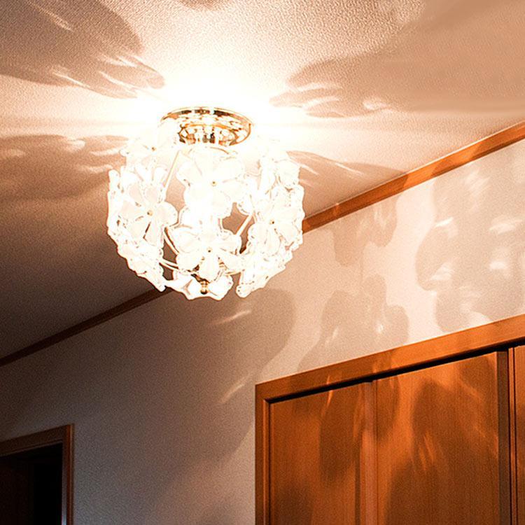 1灯 ブルーム プチシャンデリア Bloom petitchandelier キシマ シーリングライト 和風 和室 天井照明 レトロ プルメリア