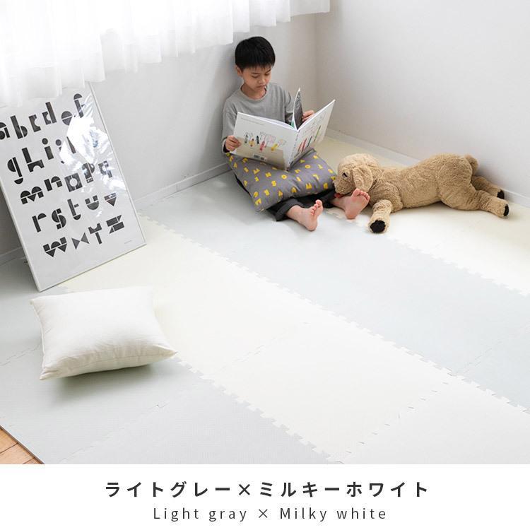 ジョイントマット 大判 おしゃれ 赤ちゃん 60cm 4.5畳 16枚 北欧 掃除 プレイマット フロアマット キッズラグ キッズ グレー 床 ベビーマット 床暖 送料無料|mollif|15