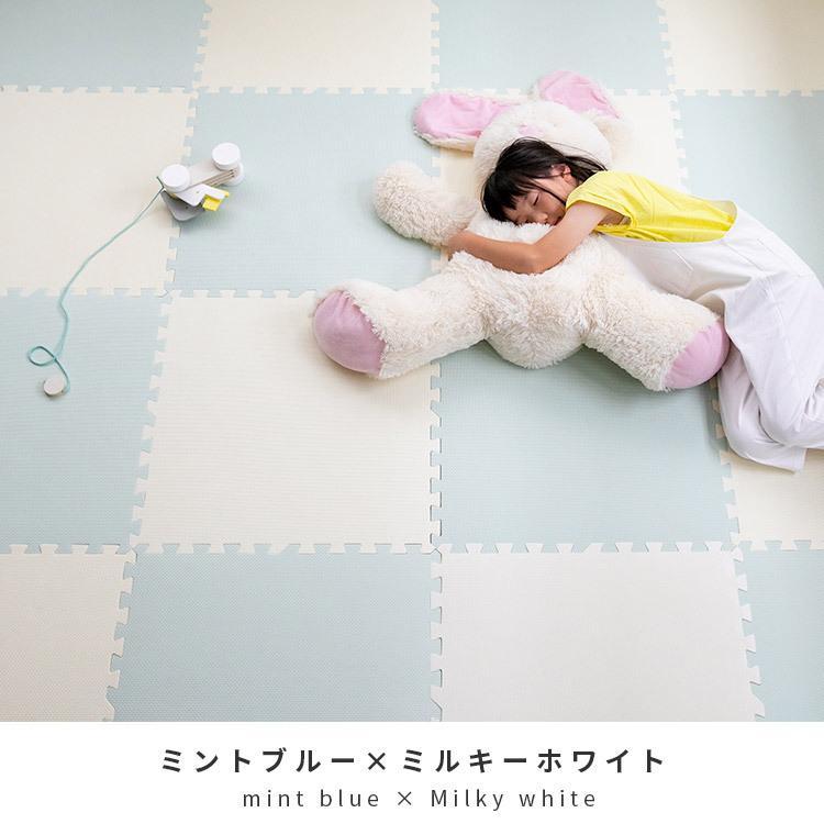 ジョイントマット 大判 おしゃれ 赤ちゃん 60cm 4.5畳 16枚 北欧 掃除 プレイマット フロアマット キッズラグ キッズ グレー 床 ベビーマット 床暖 送料無料|mollif|16